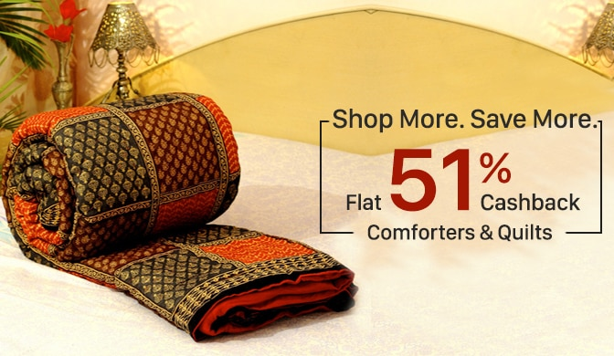 Comforters, Blankets & Quilts Flat 51% Cashback