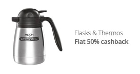 Flasks & Thermos - flat 50% CB