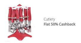 Cutlery - flat 50% CB