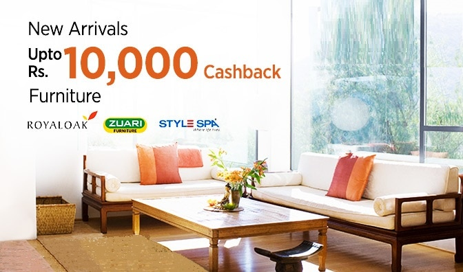 Furniture | Upto Rs 10000 cashback | Homepage