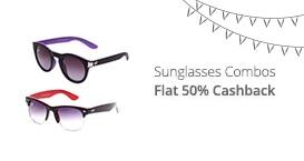 Sunglasses Combo-Flat 50% Cashback