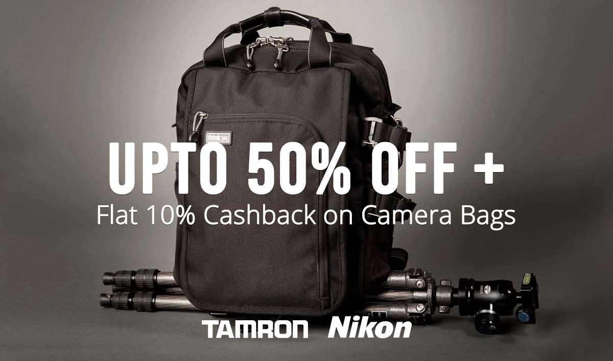 Flat 15% cashback on camera Bags