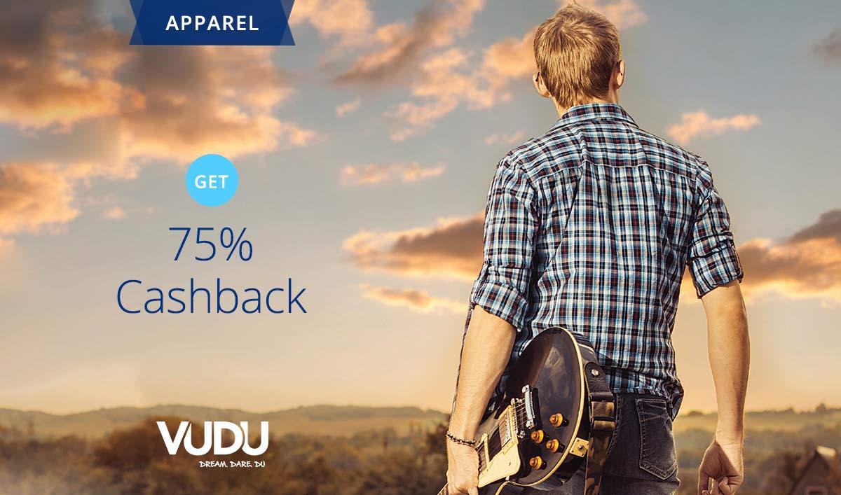 Flat 75% Cashback On Vudu Jeans From Paytm