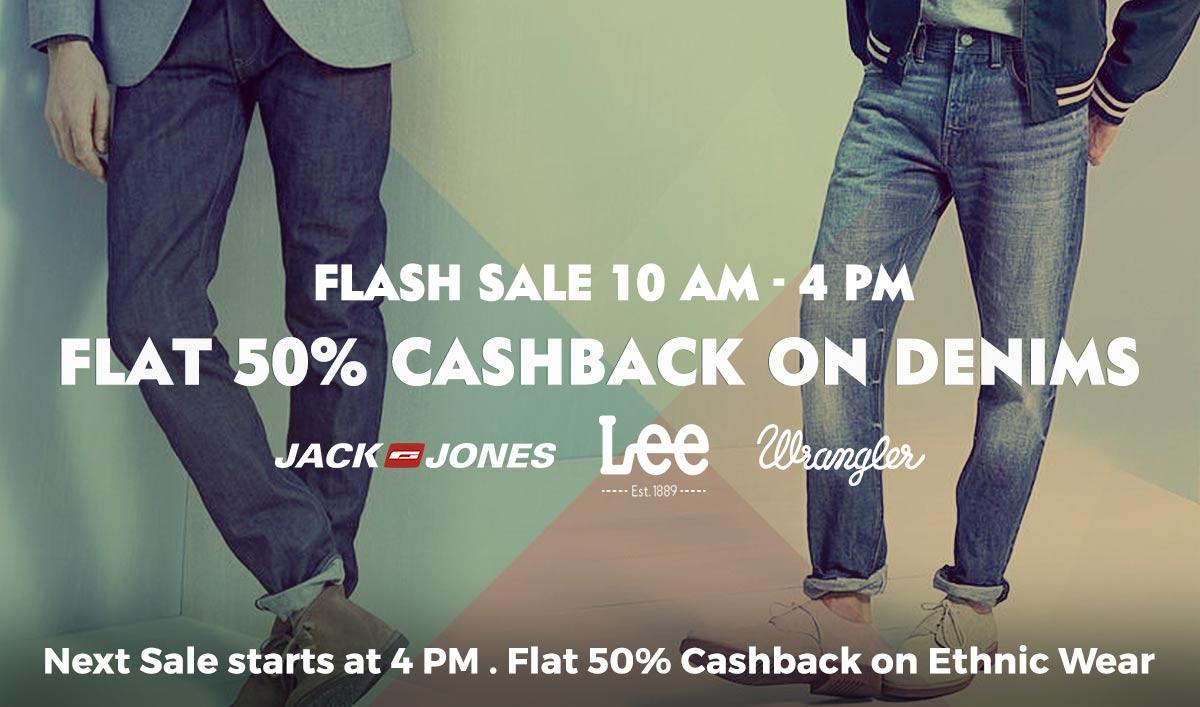 Men-Denims | Flat 50% Cashback