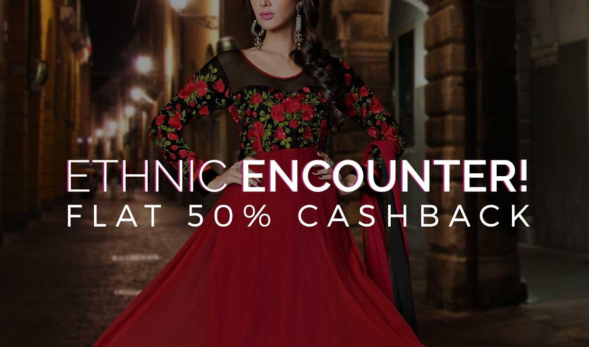 Ethnic Wear | Flat 50% Cashback
