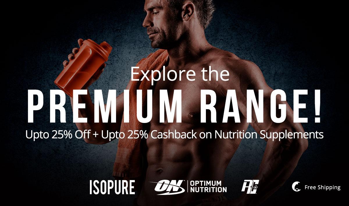Nutrition Supplements | Upto 25% Cashback