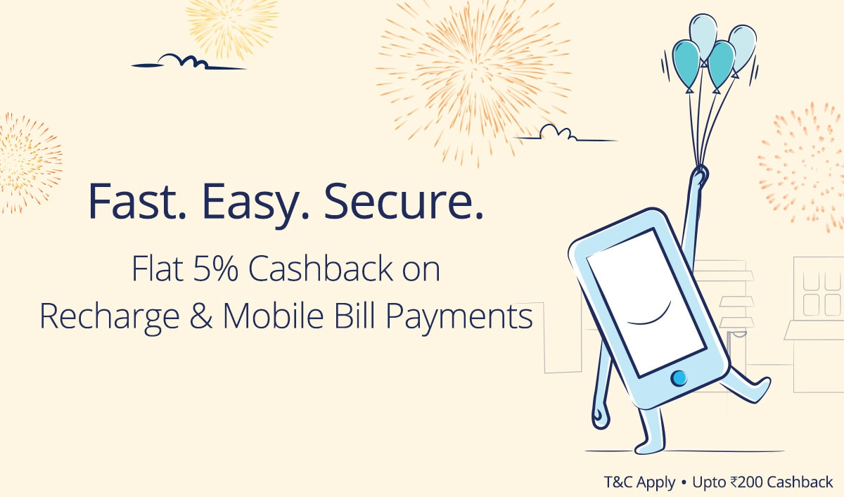 Recharge & Payments | Flat 5% Cashback