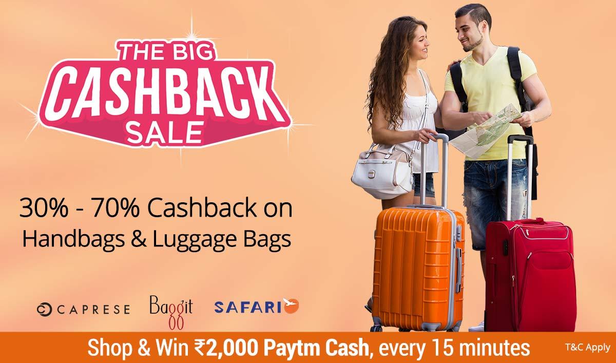 Handbags | 30% - 70% Cashback
