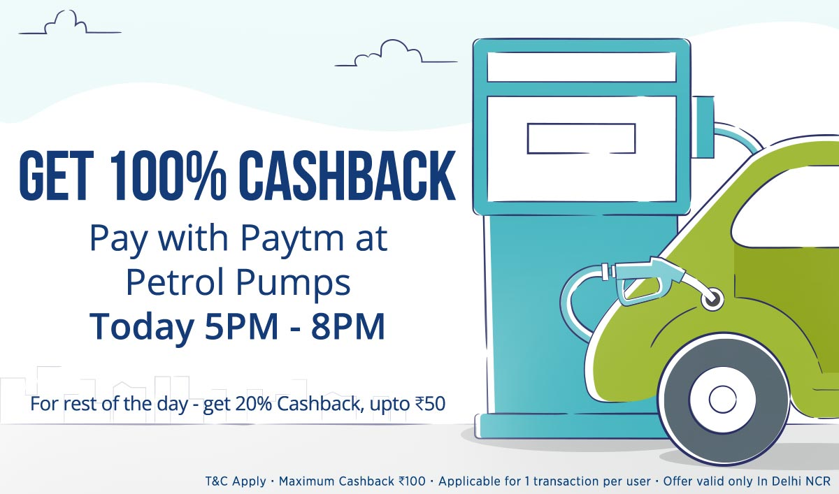 Pay With Paytm | Get 100% Cashback